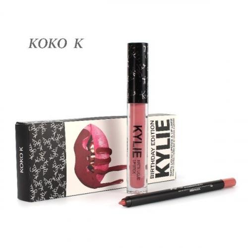 Набор Kylie Birthday Edition 2in1 Koko K (помада и карандаш)(копия)