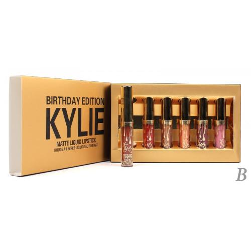 Помады жидкие матовые Kylie Birthday Edition Matte Liquid Lipstick (6шт) (золото) В копия