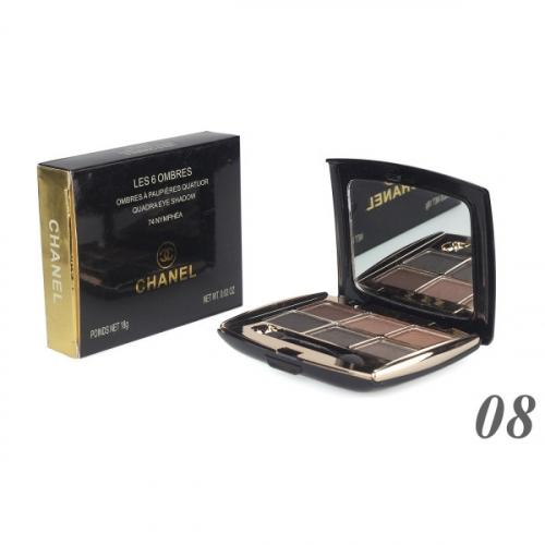 Тени Chanel Les 6 Ombres Quadra Eye Shadow 18g №8(копия)