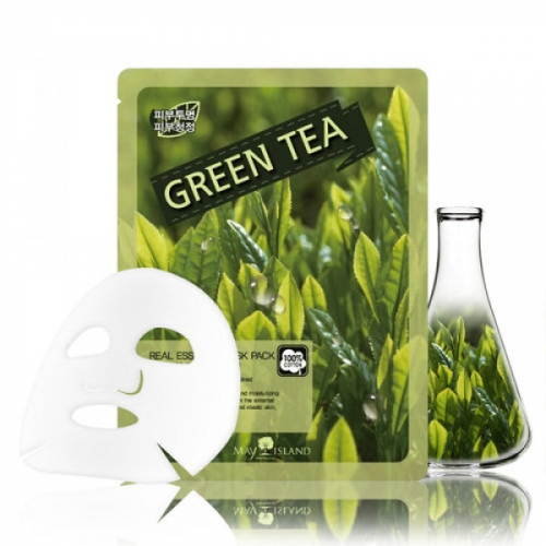 Тканевая маска для лица May Island Green Tea Real Essence Mask Pack(копия)