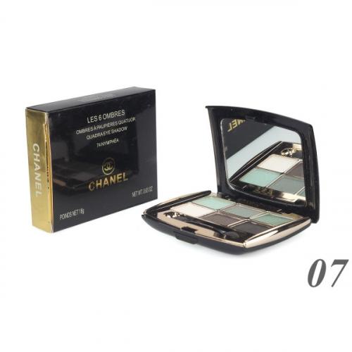 Тени Chanel Les 6 Ombres Quadra Eye Shadow 18g №7(копия)