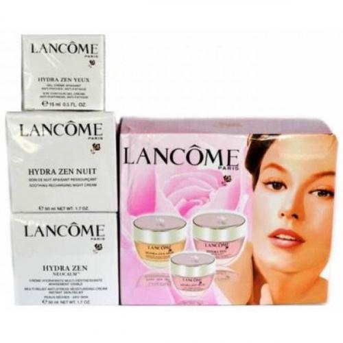 Набор увлажняющих антивозрастных кремов Lancome Hydra Zen NEUROCALM 3в1 дневной 50 ml/ночной 50ml/для глаз 15ml(копия)