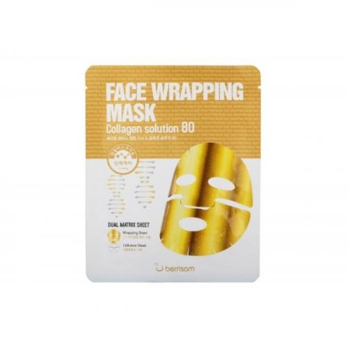 Маска для лица тканевая с коллагеном Berrisom Face Wrapping Mask Collagen Solution 80(копия)