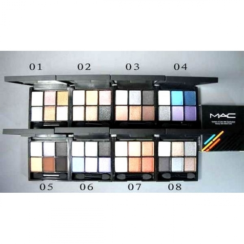 Тени MAC 6 color eyeshadow (пералмутр) №3(копия)