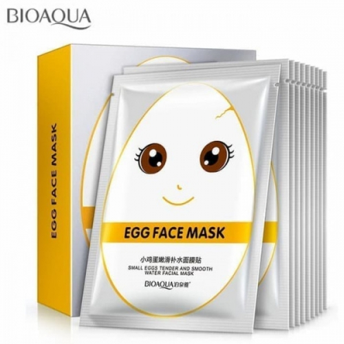 Маска тканевая Bioaqua Egg Face Mask Small Eggs Tender And Smooth Water Facial Mask 30g(копия)