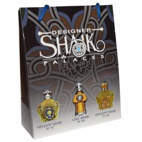 Подарочный набор SHAIK в пакете Opulent Shaik №77+Chic Shaik №70+Chic Shaik №33 3х15ml (мужской)(копия)