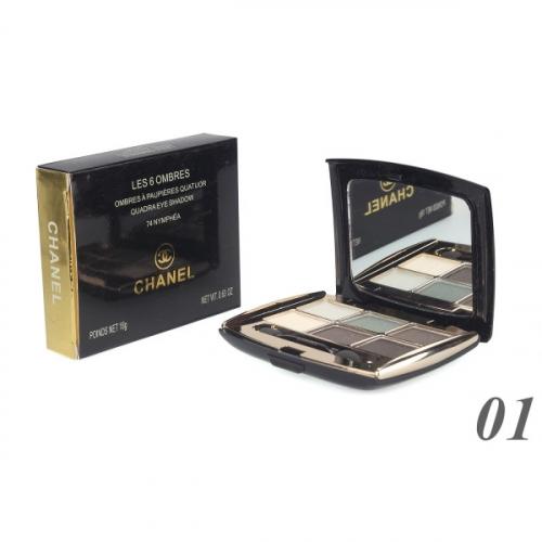Тени Chanel Les 6 Ombres Quadra Eye Shadow 18g №1(копия)