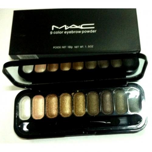 Тени для глаз и бровей MAC 9 Color Eyebrow Powder 10g №5(копия)