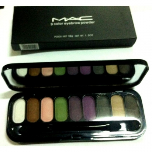 Тени для глаз и бровей MAC 9 Color Eyebrow Powder 10g №1(копия)
