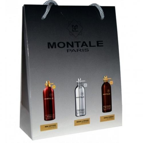 Подарочный набор Montale в пакете Red Vetiver+Wood Spices+Aoud Forest 3х15ml (унисекс)(копия)