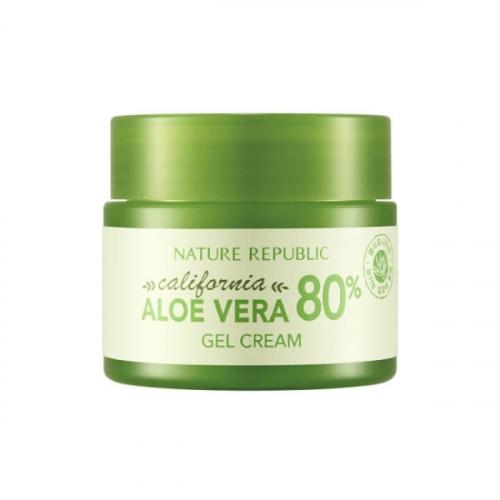 Освежающий гель-крем Nature Republic California Aloe Vera 80% Gel Cream 50ml(копия)