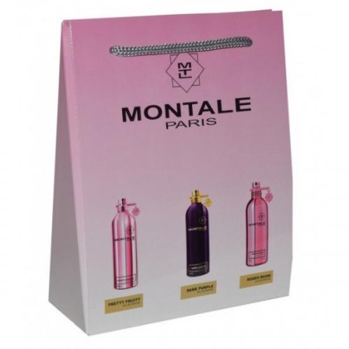 Подарочный набор Montale в пакете Pretty Fruity+Dark Purple+Roses Musk 3х15ml (унисекс)(копия)