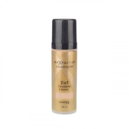 Тональный крем Max Factor Ageless Elixir 2 в 1 Foundation+Serum 30ml №75 golden(копия)