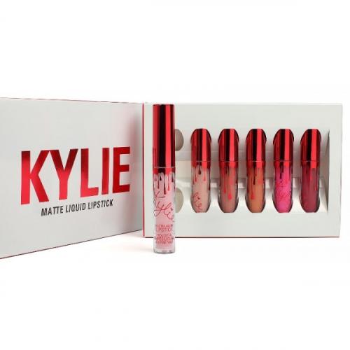 Помады жидкие матовые Kylie Matte Liquid Lipstick (6шт) (белый)(копия)