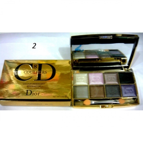 Тени CD colour iridescent eye shadow (8цв.)(7 перламутр+1 мат.тон) №2(копия)