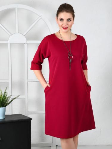 Платье 129, ягодный