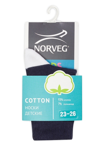60p.106p. Cotton Носки детские цвет синий с якорем