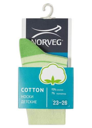 60p.106p. Cotton Носки детские цвет зелено-салатовая полоска