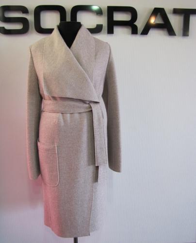 Пальто дс №1216 ST MELANGE col# BEIGE (размеры 48,52,54) 2390р. шерсть 40%