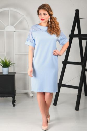Платье 007/3, голубой