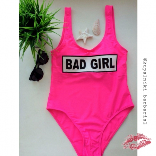 Купальник BED GIRL розовый слитный