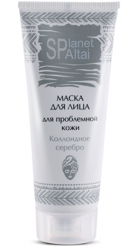 Маска для проблемной кожи лица с серебром