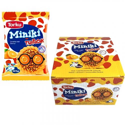MINIKI Печенье с молоком и с апельсиновым джемом • 25.00 г