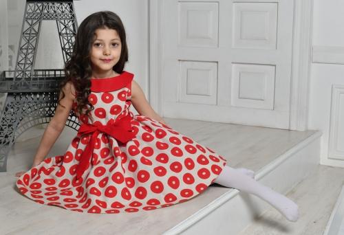 Л19-5 платье  «Забава» красный