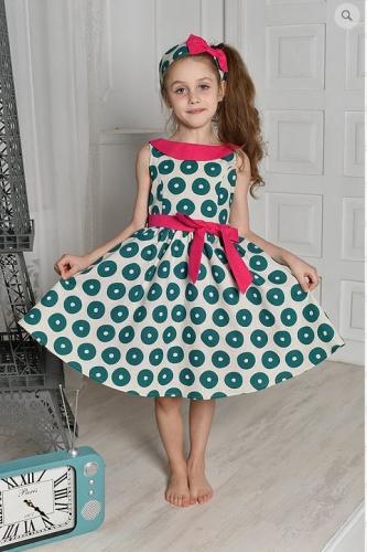 Л19-5 платье  «Забава» изумруд