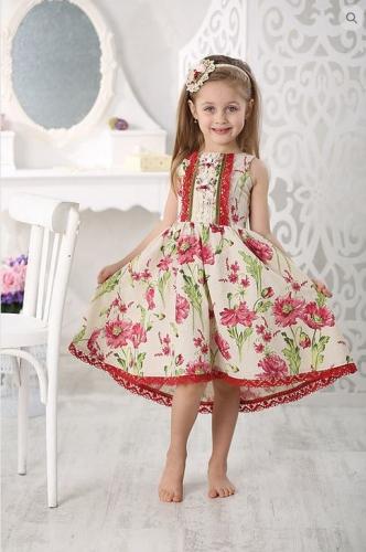 Л17-5   платье  «Маки»