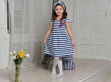 платье для девочки Л19-9 Лето полоска