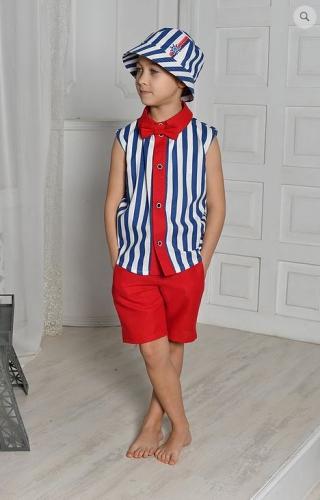 рубашка для мальчика Франт М-403 полоска