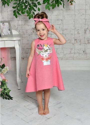 платье для девочки Л18-10 Фенечка розовый