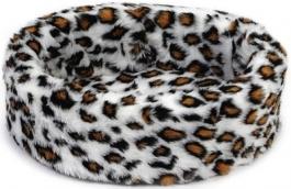 Beeztees 705770 Лежанка д/кошек Teddy леопардовый 40см