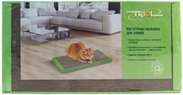 Триол CT47 Когтеточка-лежанка с кошачьей мятой, картон 56*30*3,5см
