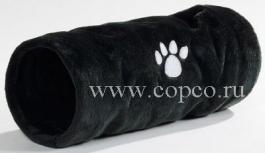 Beeztees 704790 Туннель д/кошек Crispy плюшевый черный 22*60см