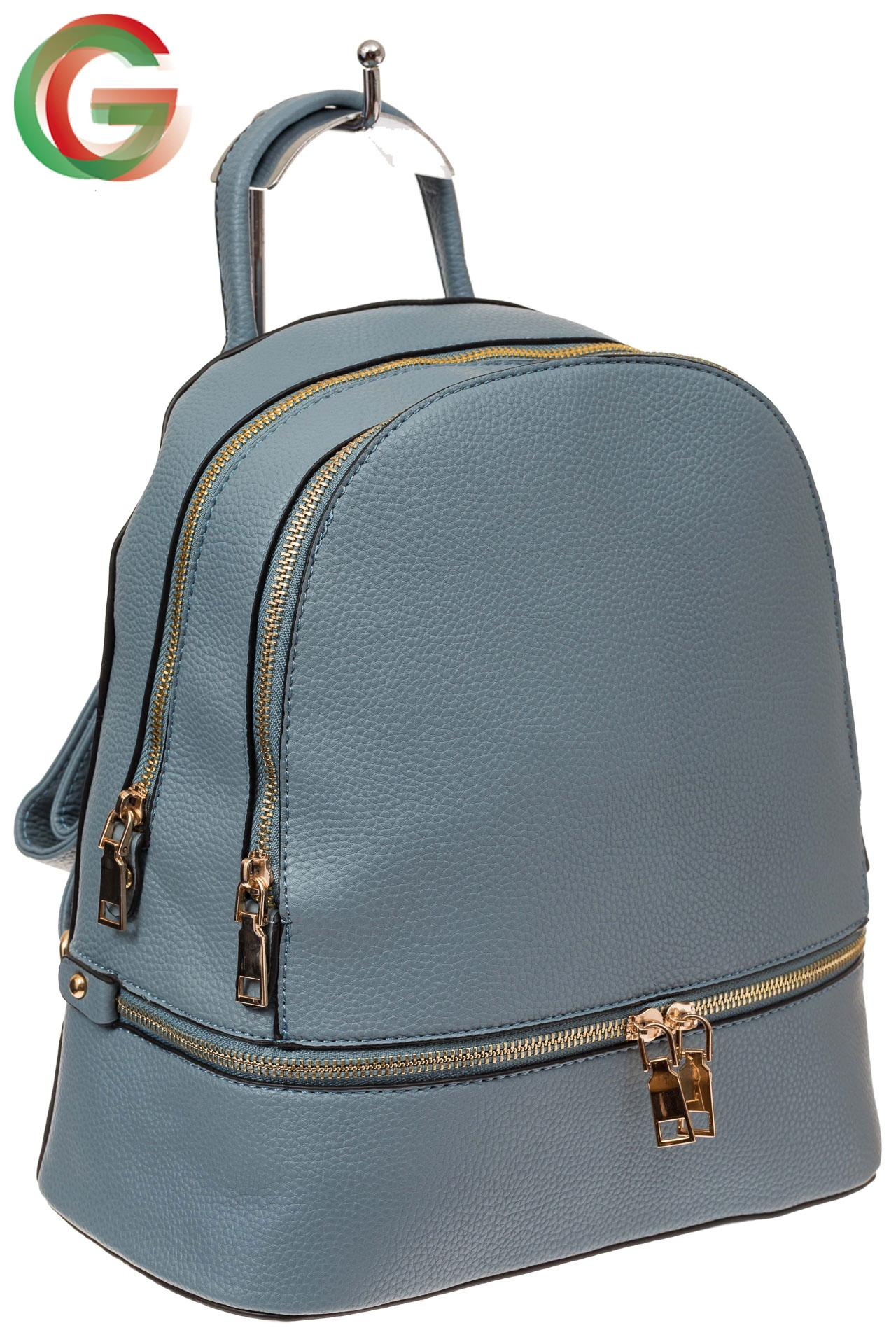 0397bf2592e0 Женский рюкзачок из искусственной кожи, цвет серо-голубой