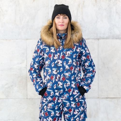 Женский зимний комбинезон Микки, синий. Спортсоло, Россия