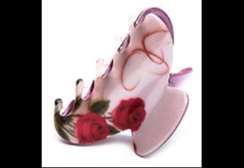 377617/01-03 розовый  женские заколка-краб для волос