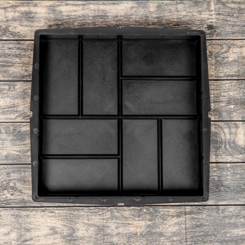 Форма для тротуарной плитки «Плита. 8 кирпичей», 40 × 40 × 5 см, Ф13004