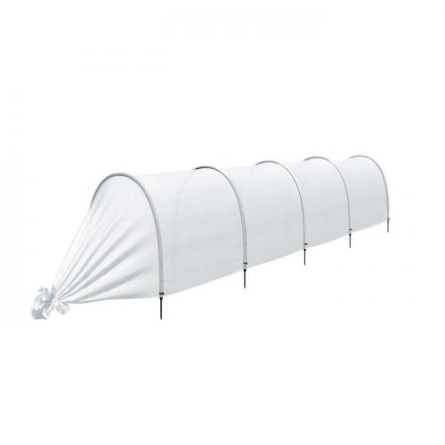 Парник прошитый «Ленивый», длина 4.5 м, 5 дуг из пластика, дуга L = 2 м, d = 20 мм, укрывной материал 42 г/м²