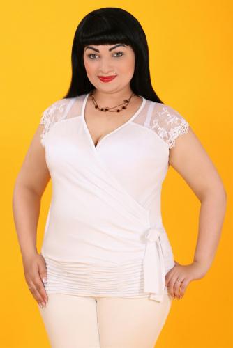 19-70 СИМАН 3172 Блуза белый