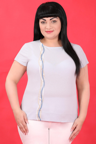 СИМАН 5529 Блуза серый