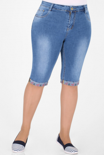 1У-54 D008 Капри джинсовые