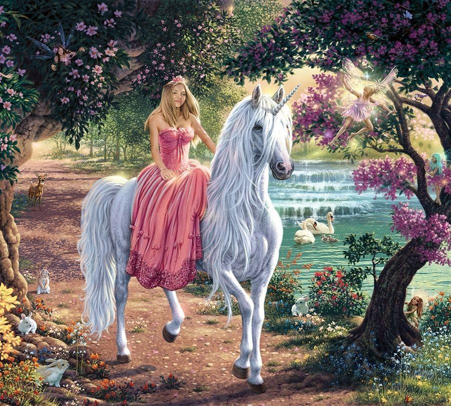 Картинки принцесса с конем