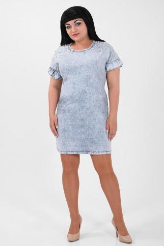 1-53 1822 Платье джинсовое