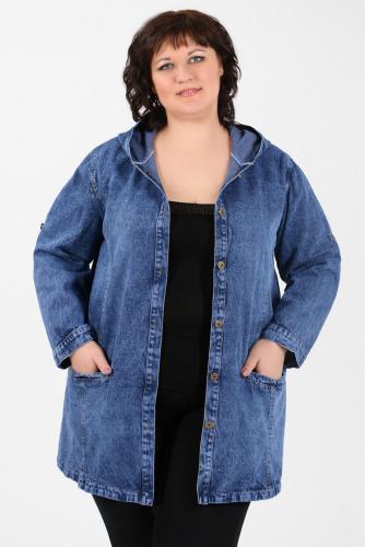 К1У-53 1302 Куртка джинсовая с капюшоном