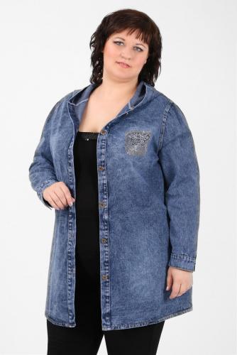 К1У-53 1309 Куртка джинсовая с капюшоном