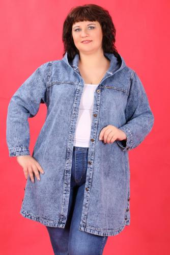 К1У-53 1305 Куртка джинсовая с капюшоном