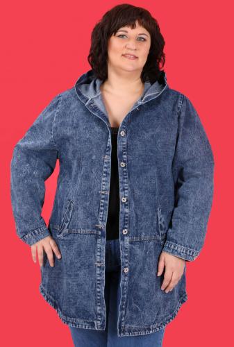 К8 907 Куртка джинсовая с капюшоном